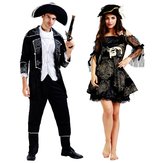 Adult Pirate Halloween Costumes Women Fancy Dress Man Pirates Outfits Cosplay Party Carnival Costumes  sc 1 st  AliExpress.com & Adult Pirate Halloween Costumes Women Fancy Dress Man Pirates ...