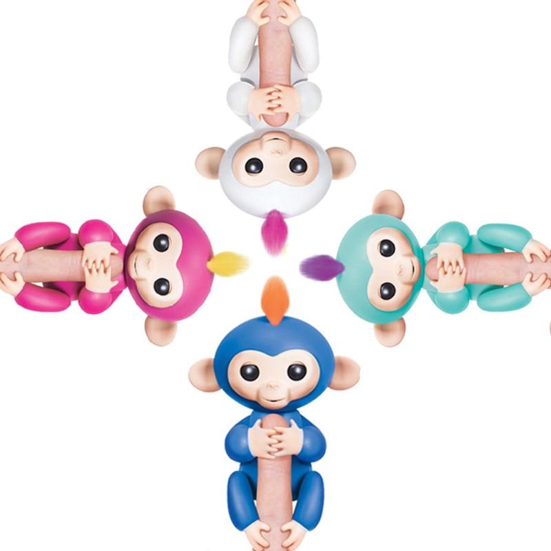 4 Color semi-intelligence Baby Monkeys Finger Monkey fingerlings shake the body or head it will make sound and light