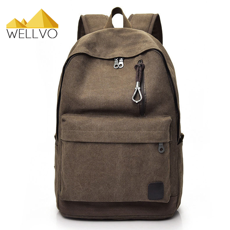 Men Canvas Solid Backpack For Teenage Girls Boys School Bag Vintage Backpacks Student Travel Rucksack Bags Black Escolar XA1931C vintage multifunction business travel canvas backpack men leisure laptop bag school student rucksack