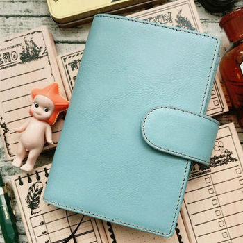 Yiwi Original A5 A6 Composition Book Soft Genuine Leather Hobo With Card H