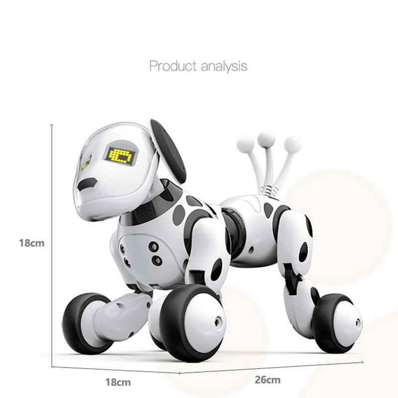 DIMEI Birthday Gift RC Zoomer Dog 2 4G Wireless Remote Control Smart Dog  Electronic Pet Educational Children's Toy Robot Toys