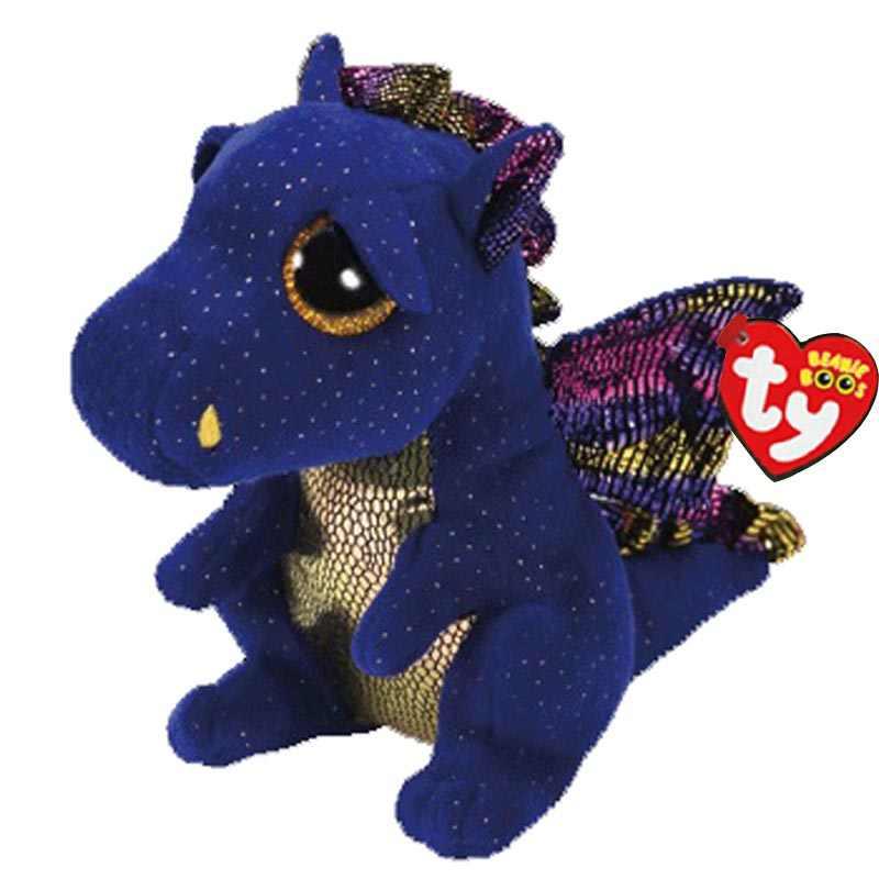 Ty beanie saffire o dragão azul brinquedo de pelúcia boneca 15cm