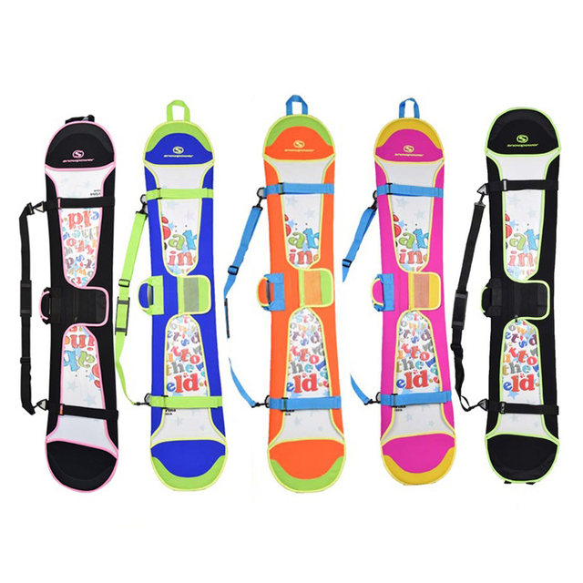 High quality snowboard bags Candy color neoprene material skis bags carry and backpack
