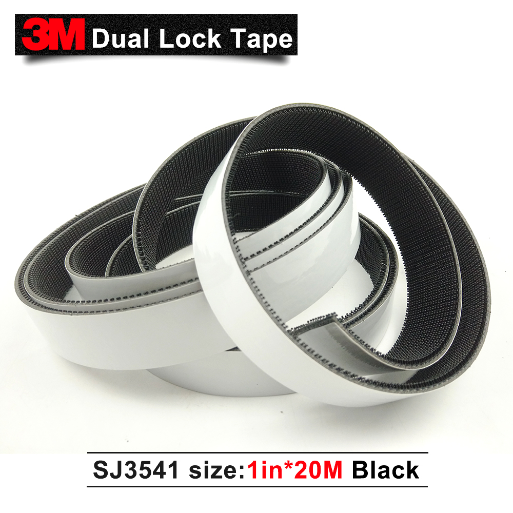 free shipping 3M dual lock tape black adhesive double sided tape acrylic sj3541 pressure sensitive tape 1in * 20m we can die cut цена 2017