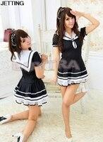 2017 Studenti Uniforme Vestito di Pizzo New Sveglio Navy Vestito Delle Donne Sexy Japanese School Girl Sailor Uniform Costume Cosplay della Domestica