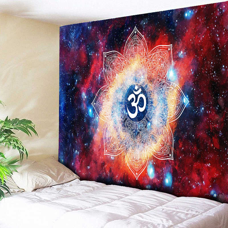 Ombre Galaxy Space 3D Psychedelic Tapestry Mandala ผนังแขวน Elegant Kaleidoscope Boho Hippie Tapestries Nordic Home Decor
