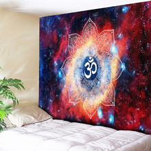 Ombre Galaxy Space 3D Psychedelic Tapestry Mandala Wall Hanging Elegant Kaleidoscope Boho Hippie Tapestries Nordic Home Decor