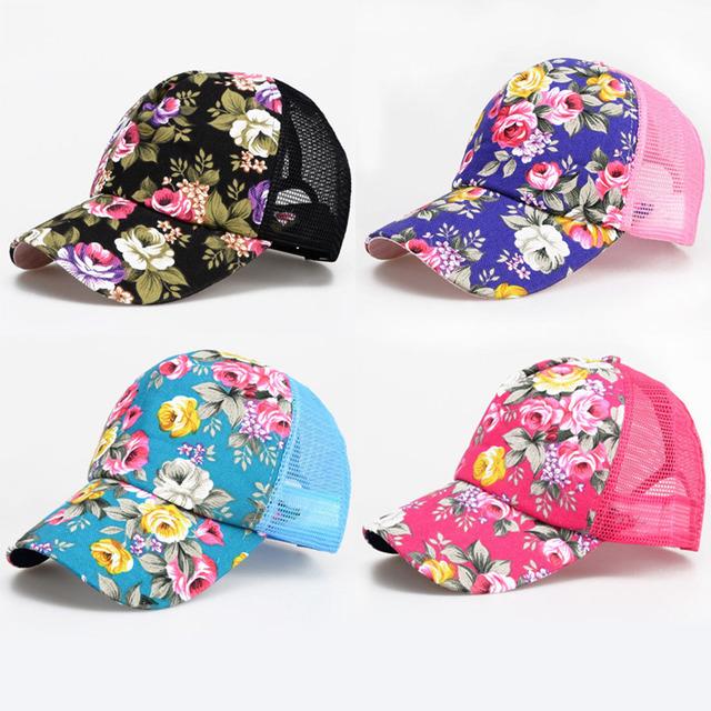 Chapéus casuais Chapéu Cap Malha Boné de Beisebol Unisex Floral Primavera e verão esportes e lazer pala de sol chapéu de sol snapback Cap