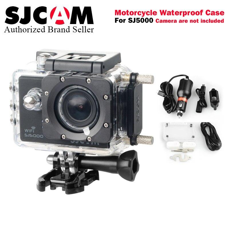 SJCAM Moto Boîtier Étanche pour SJCAM SJ5000 Série pour SJCAM SJ4000 WIFI Cas De Charge pour SJ5000 WiFi SJ5000X Elite