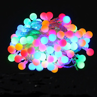 Novelty Outdoor Lighting LED Ball String Lamps 10m 100leds Christmas Lights Fairy Wedding Garden Pendant Garland