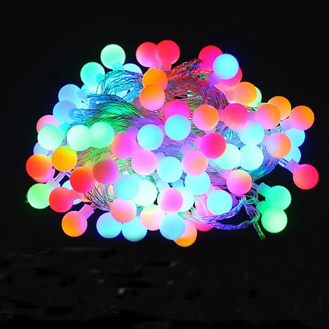 Novelty Outdoor lighting LED Ball string l&s 10m 100leds Christmas Lights fairy wedding garden pendant garland & Novelty Outdoor lighting LED Ball string lamps 10m 100leds Christmas ...