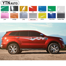 2015 2016 SUV car accessories modified decal 2PC lower Rocker side door stripes graphic vinyl sticker custom for ford everest