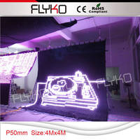 outdoor LED display rgb full color soft LED video curtain p5 4x4m