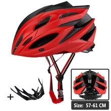 Bike Helmet Men Women Bicycle MTB Cycling Helmet Matte Red Black Integrally-molded Insect Net Helmet Euipped Breathable Helm triple 8 brainsaver gun matte helmet