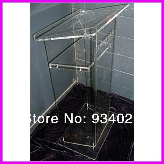 Clear Acrylic Podium Reception Table Transparent Podium To Speak Desk Company Cashier Unit School Supplies