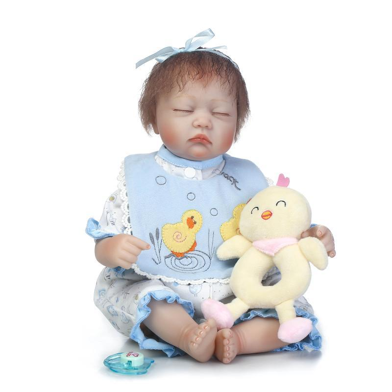 NPK Doll 40 cm Lifelike bebe reborn Soft Silicone Sleep baby Girl alive boneca Realistic Reborn Dolls With PlushToys For Kids npk cute smile baby girl dolls real soft silicone reborn babies 55 cm with fiber hair realistic boneca reborn doll