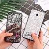 Love heart Lace Flower Hard PC+TPU Phone Case For Samsung galaxy S9 Plus S8 Plus S6 S7 Edge J3 J5 J7 2017 A3 A5 A7 A8 Plus 2018