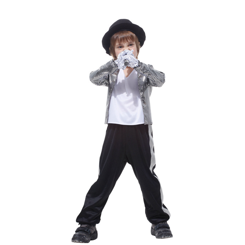 Kids Boys Michael Jackson Cosplay Costume Birthday Halloween Party Performance Fancy Dress