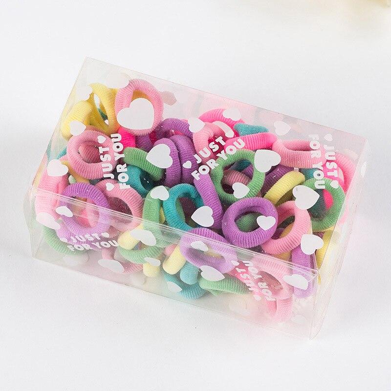 #WXET07 100pcs/lot elastic headbands Children colorful small circle gold hair band headbands Gum For hair accessory rezinochki