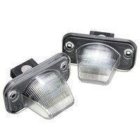2Ps LED License Plate Light 18SMD Number Plate Light For VW Transporter T4 Caravelle MK4 Multivan
