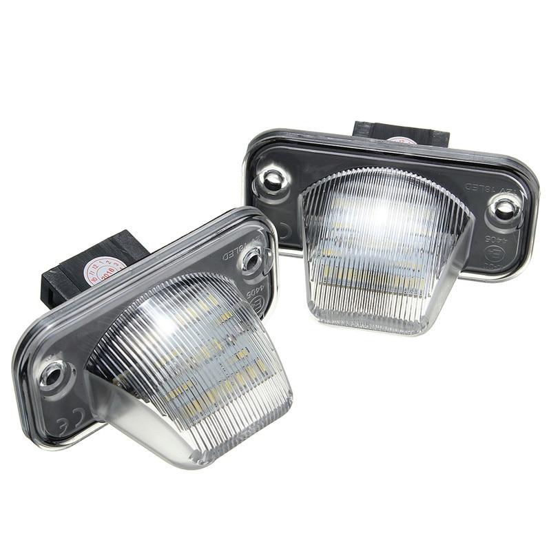 2Ps LED License Plate Light 18SMD Number Plate Light For VW Transporter T4/Caravelle MK4/Multivan MK4/Caravelle Passat/Eurova pai transporter t4 caravelle smoked red tail rear light lamp for vw left