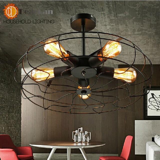 vintage edison fan droplight pendant lamps for bedroom,living room