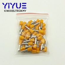 цена на E4012 Tube insulating terminals 4.0MM2 100PCSPack Insulated Cable Wire Connector Insulating Crimp Terminal Connector E