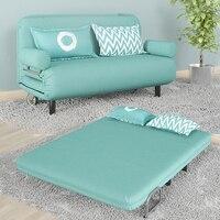 Современная мода складной моющийся Многофункциональный Ленивый хлопок и лен ткань кресло футон диван кровать