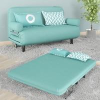 Современная мода складной моющийся Универсальный Ленивый хлопок и лен ткань лежащий футон стул диван кровать