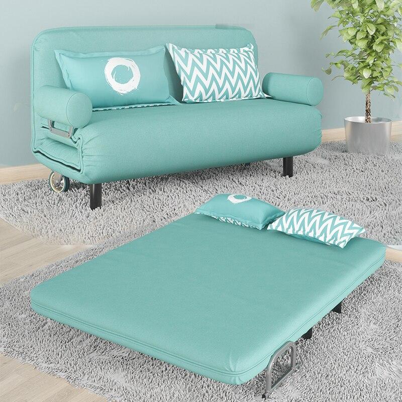 Mode moderne pliant lavable multifonctionnel paresseux coton et lin tissu inclinable Futon chaise canapé-lit