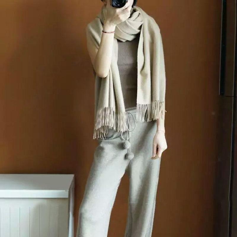 Imitation Chameau Livraison Qualité Jambe Haute Lâche Cachemire Large Tricoté Mode Femmes Chaud De Gris Gratuite Pantalon Hq5Bw