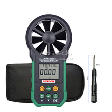 NKTECH MS6252B LCD Digital Anemometer Wind Speed Meter Air Flow Volume Ambient Temperature Humidity USB Data
