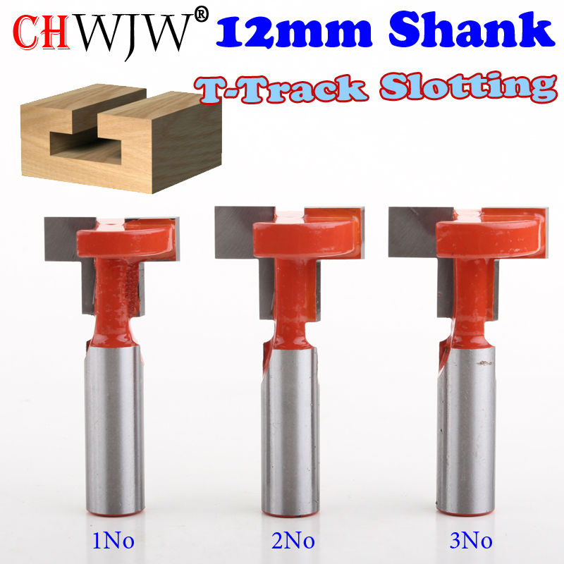1pcs 12mm Shank Top Quality T-Slot & T-Track Slotting Router Bit For Woodworking Chisel Cutter Wholesale Price Wood Cutting Tool high grade carbide alloy 1 2 shank 2 1 4 dia bottom cleaning router bit woodworking milling cutter for mdf wood 55mm mayitr