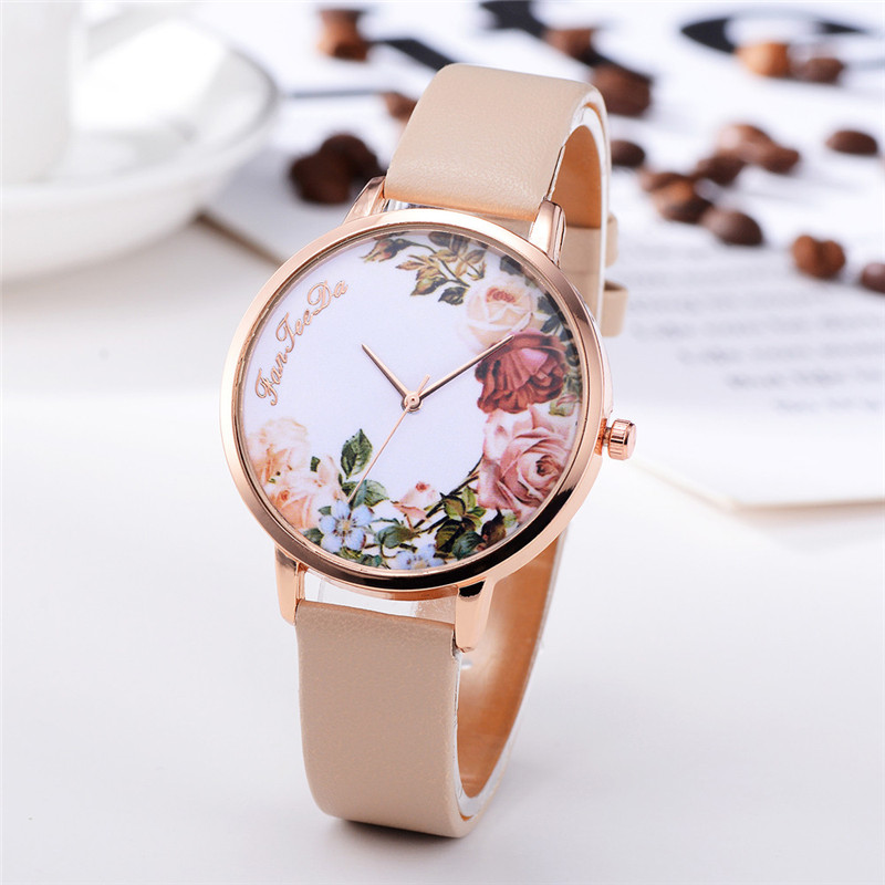 Fashion Womens Watch Girls Casual Flower Dial Leather Band Quartz Wrist Watches Female Clocks Montre Femme Relogio Feminino #D HTB1WRXVzL9TBuNjy0Fcq6zeiFXaW