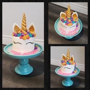 Image 3 - Cake Tool 6 inch 3D unicorn horn Silicone mold Mould  Wedding Chocolate tools fondant Cake Baking Icing Ice