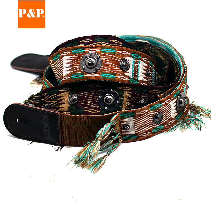 2019 New Musical Instrument Accessories Guitar Strap Indian Style Strap Electric Guitar Acoustic Guitar Strap