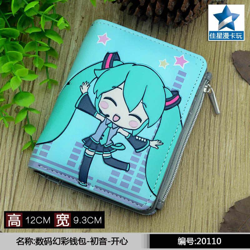 Студенческий короткий кошелек для монет Аниме/ACG Hatsune Miku тисненый кошелек с магнитной кнопкой