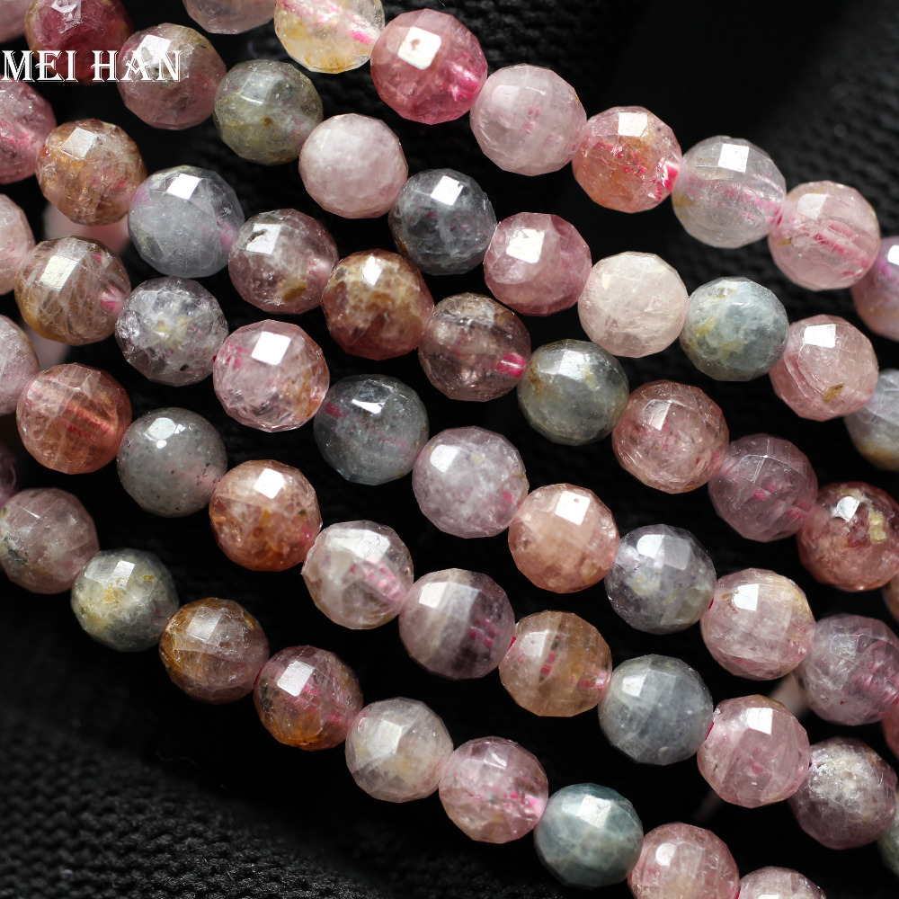 Fine Jewelry High Quality Natural Genuine Tanzania Red Ruby Round Loose Gems Faceted Beads 4mm 5mm 6mm 7mm 15 05284 Latest Technology Beads