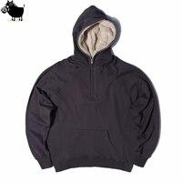 Famous Brand Mens Oversized Sherpa Hoodies 3 Colors Side Split Streetwear FOG Fleece Zipper Sweatshirts Justin