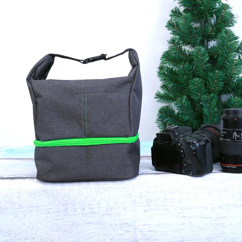 For Nikon Cannon Sony SLR DSLR Cameras Camera Bag Soft Frosted Material Waterproof Shockproof Burglarproof With Shoulder Strap