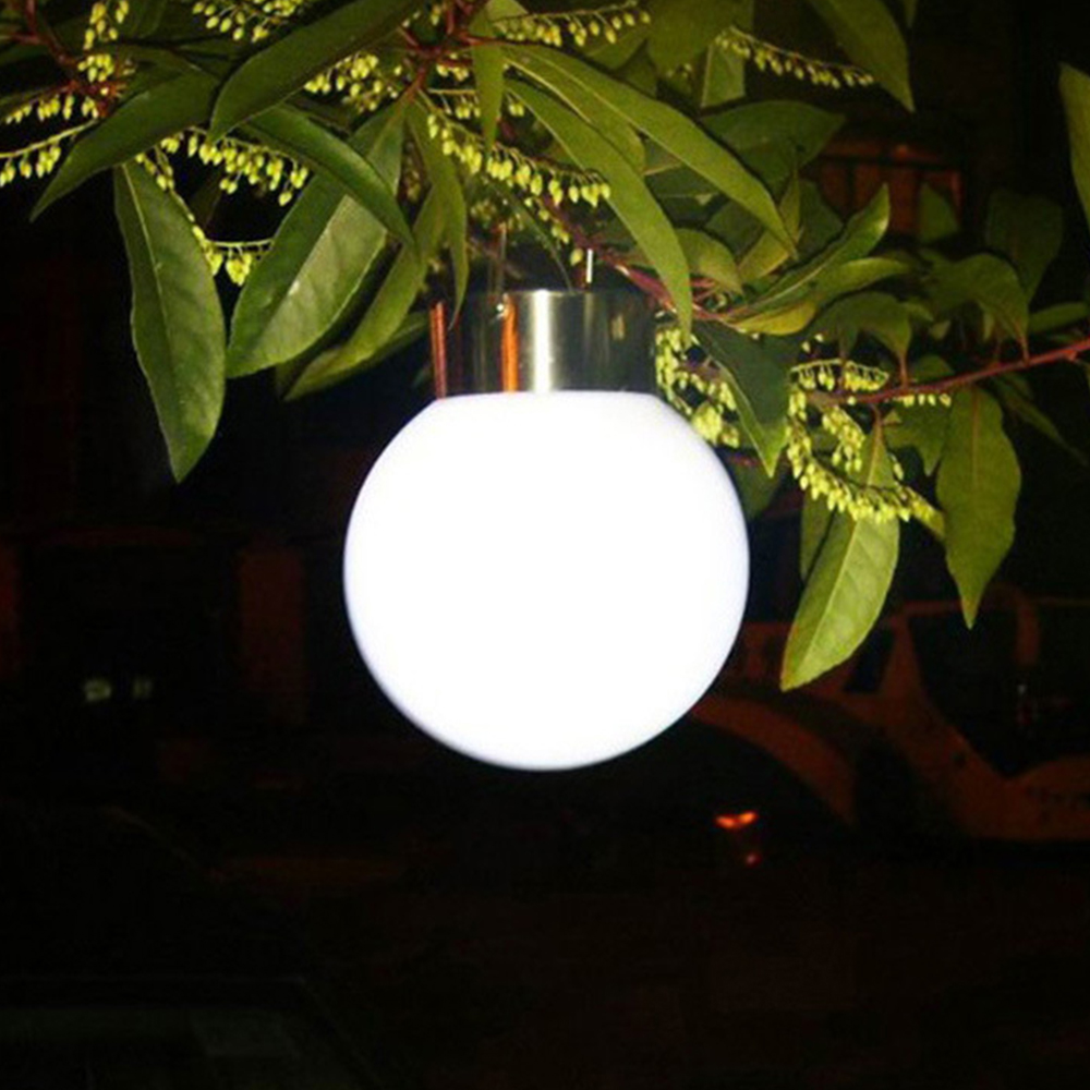 New 1pc Glass Globe Solar Powerd Light Hanging Colorful Solar Lamp Glass Ball Light For Courtyard Lawn Garden Light Supplies ...