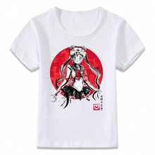 Kids Clothes T Shirt Sailor Moon Anime Strong Girl T-shirt for Boys and Girls Toddler Shirts Tee(China)