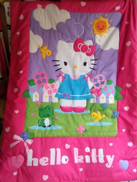 Children quilt blanket Cute cartoon lovely hello kitty bedding product girl boy baby quilt