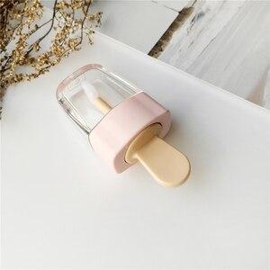 Image 5 - 1pc空のリップグロスチューブ容器クリーム瓶diyブラシメイクアップツール化粧アイスクリーム透明なリップクリーム詰め替えボトル