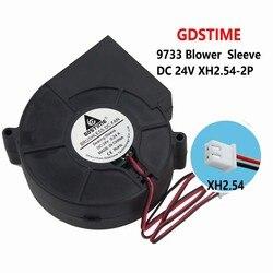1 sztuka Gdstime 9733S DC wentylator 24V odśrodkowy wentylator dmuchawy 97mm x 33mm 9cm bezszczotkowy chłodnica