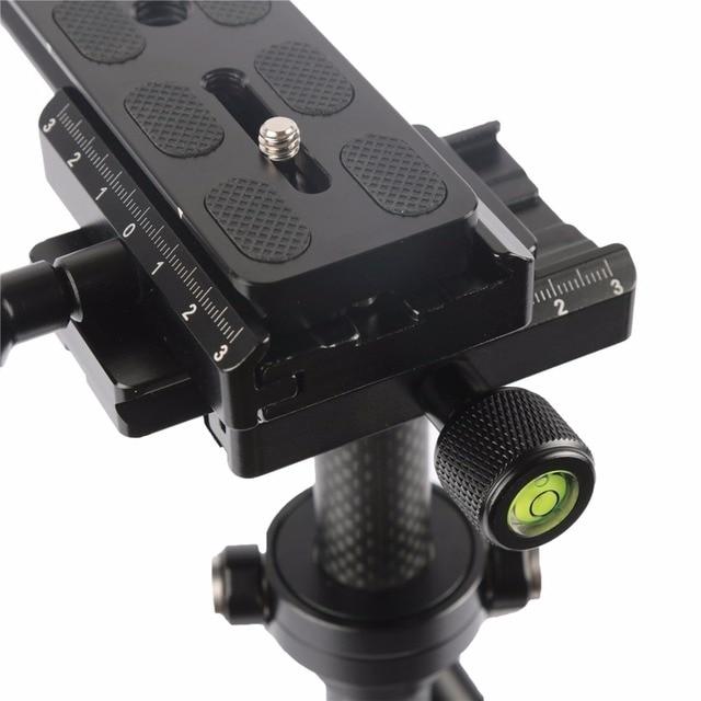 SY-JQ04 professionnel 28-40cm charge maximale 0.2-2kg stabilisateur portatif en fiber de carbone steeryam Solo pour reflex numérique et vidéo numérique DV