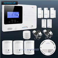HOMSECUR Wireless GSM Autodial Burglar Alarm System+ 3 Pet Friendly PIR Sensors
