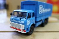 Classic Diecast Toy Model 1:43 Ratio Soviet Union Russian MAZ 5146 Vintage Van Truck Transporter Model for Collection,Decoration