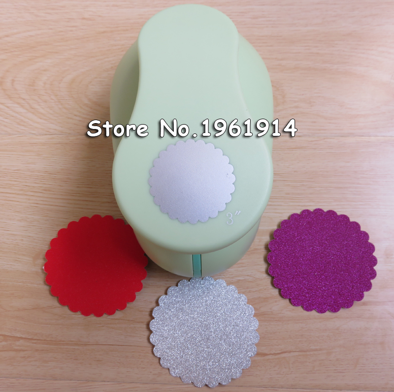 free shipping 3 inch(about 7.1cm) wave circle paper punch for scrapbook eva foam punch for DIY Scrapbook puncher crafting punch