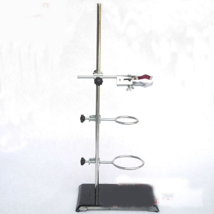 50cm retort iron with clamp clip laboratory ring stand educational equipment iron support with clamp clip in laboratory distilling stand school supplies 60mm stainless steel
